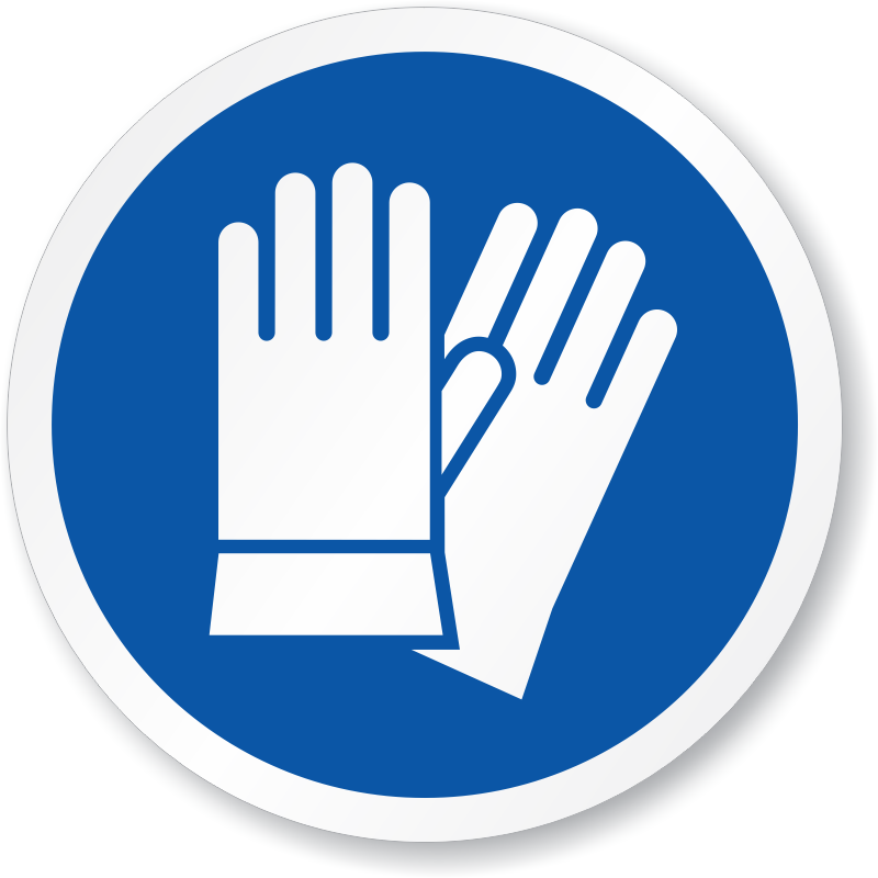 Safety gloves sign