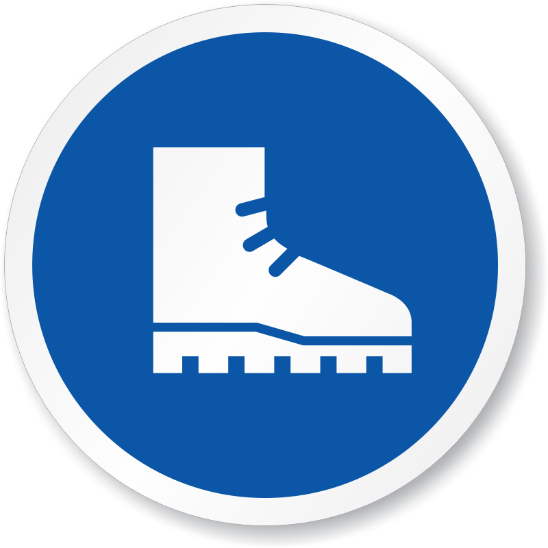 foot protection signs safety footwear signs