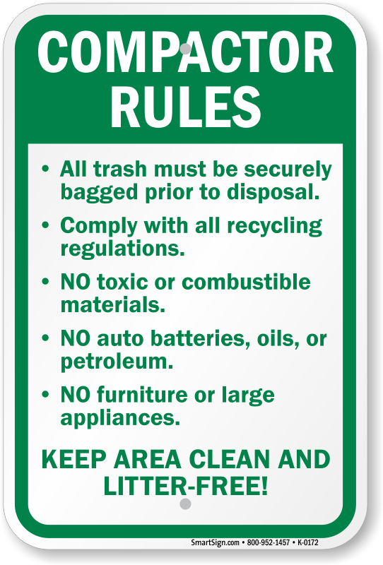 Compactor Starts Automatically Signs Mysafetysign Com