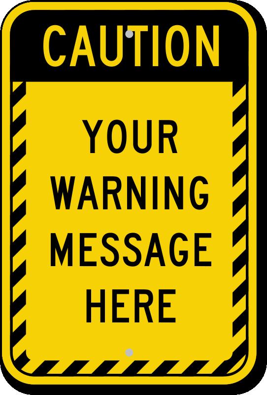caution border template custom caution signs