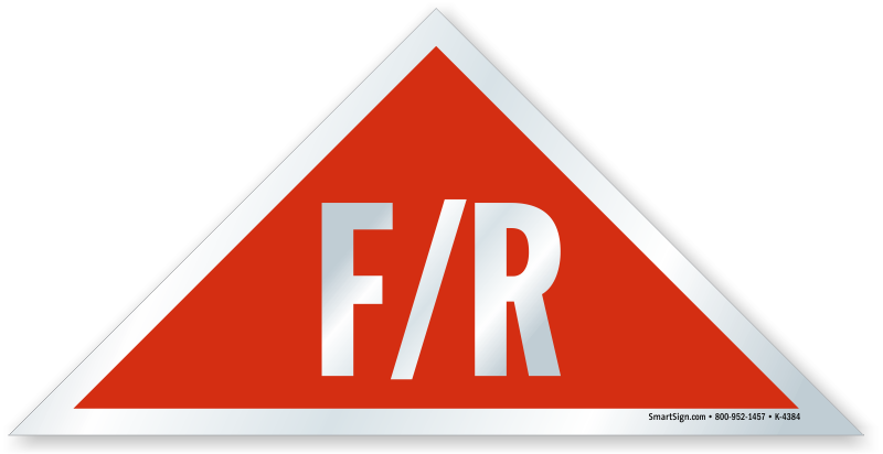F R Triangular Red Background New Jersey Truss Sign