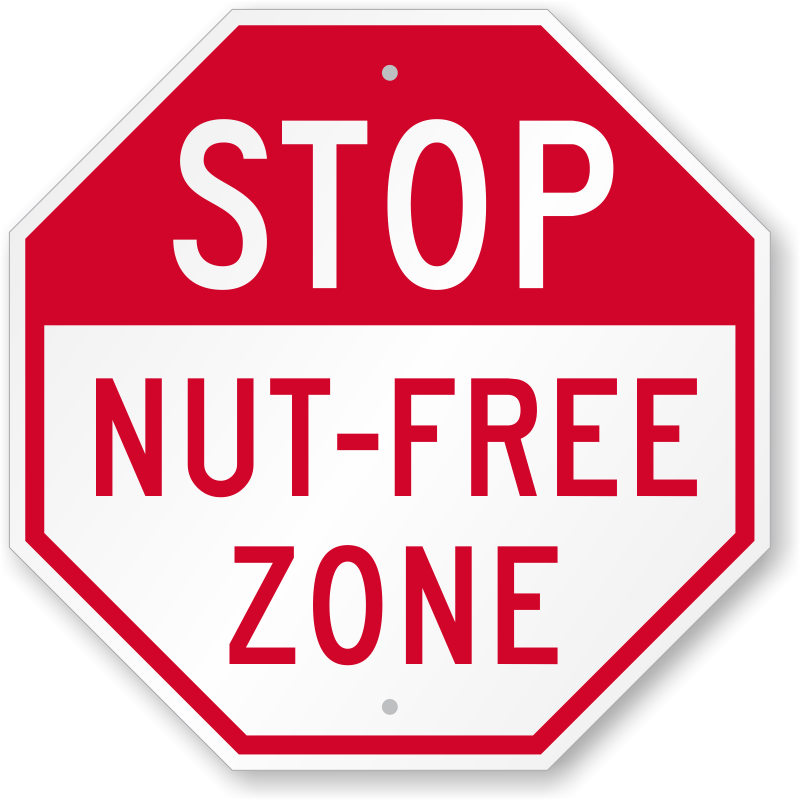 Peanut Safety Signs, Food Allergy Safety Signs - 800x800 - png