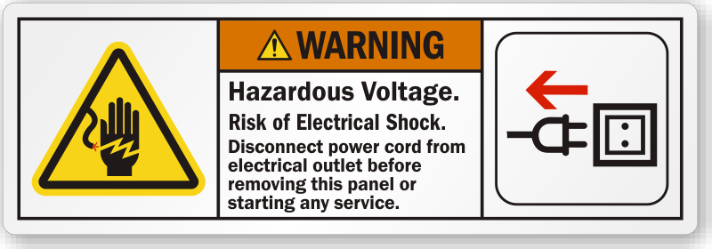 Electrical Service Instruction Signs Mysafetysign Com