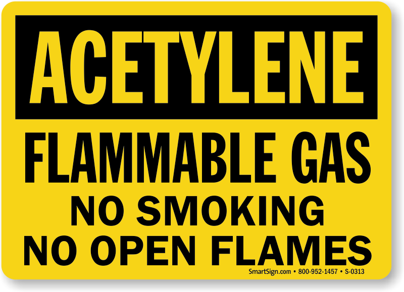 Acetylene Safety Signs Mysafetysign Com