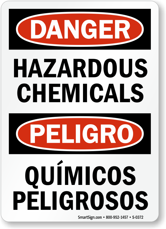 Chemical Hazard Signs Chemical Safety Signs