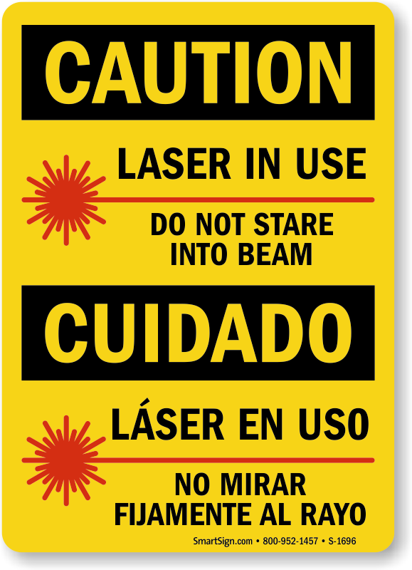 Laser Warning Signs Mysafetysign Com