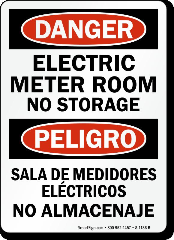 Meter Warning Signs Amp Labels Mysafetysign Com
