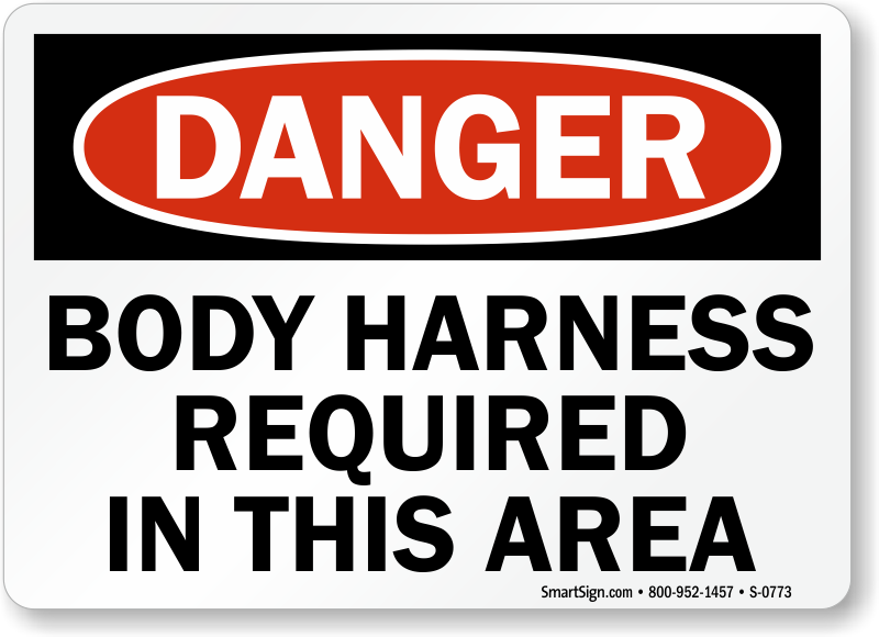 Safety Harness Signs Safety Harness Signs