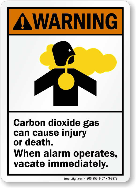 Carbon Dioxide Signs Best Prices Mysafetysign Com