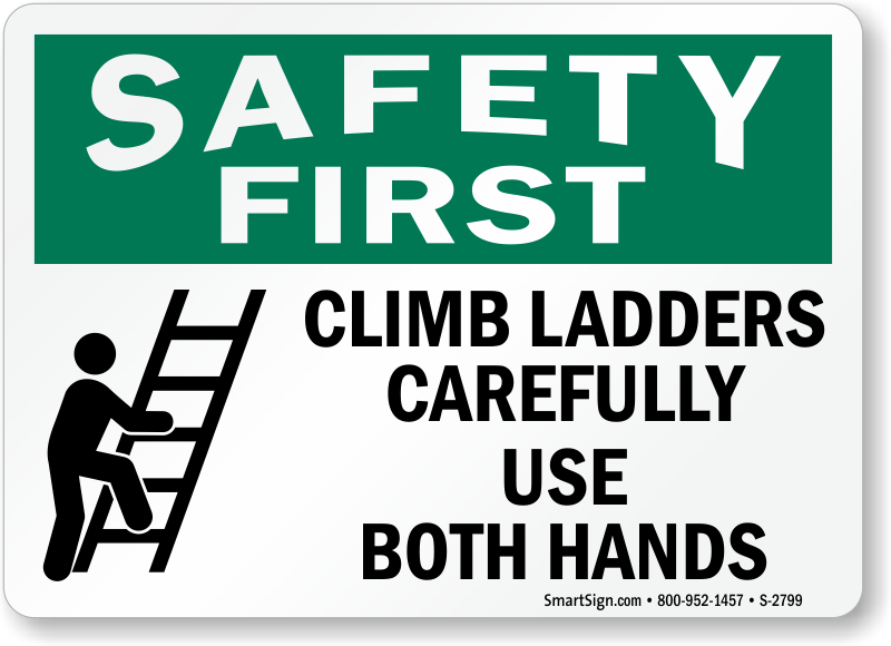 Ladder Safety Signs Ships Free From Mysafetysign