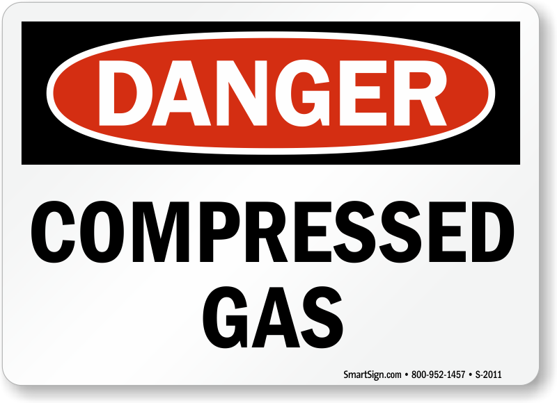 Cylinder Storage Signs Compressed Gas Danger Signs