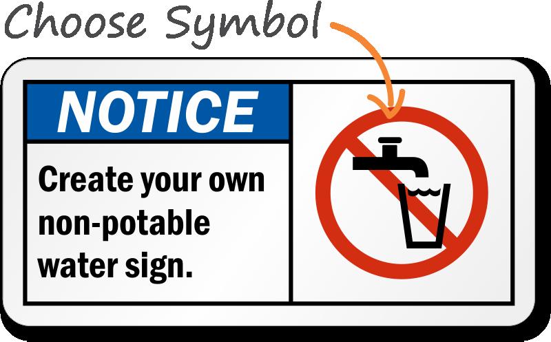 Custom Non Potable Water Sign Free Pdf Sku S 3114