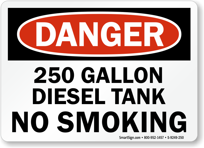 Diesel Fuel No Smoking Signs Mysafetysign Com