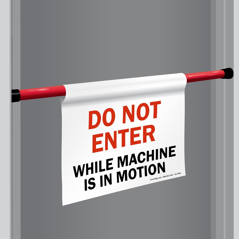 Do Not Enter Door Barricade Sign SKU S2 1996