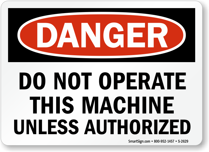 Do Not Operate Danger Sign Machinery Signs Mysafetysign Com