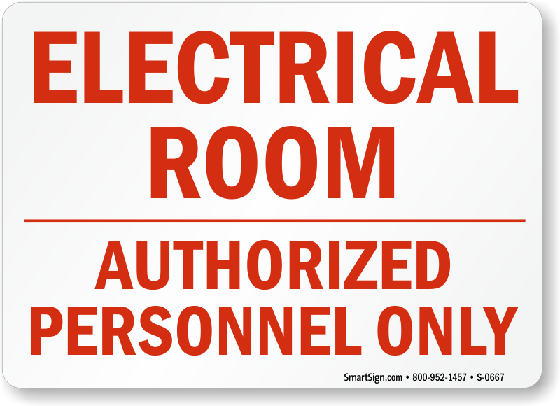 Electrical Safety Signs : Electrical room signs mysafetysign