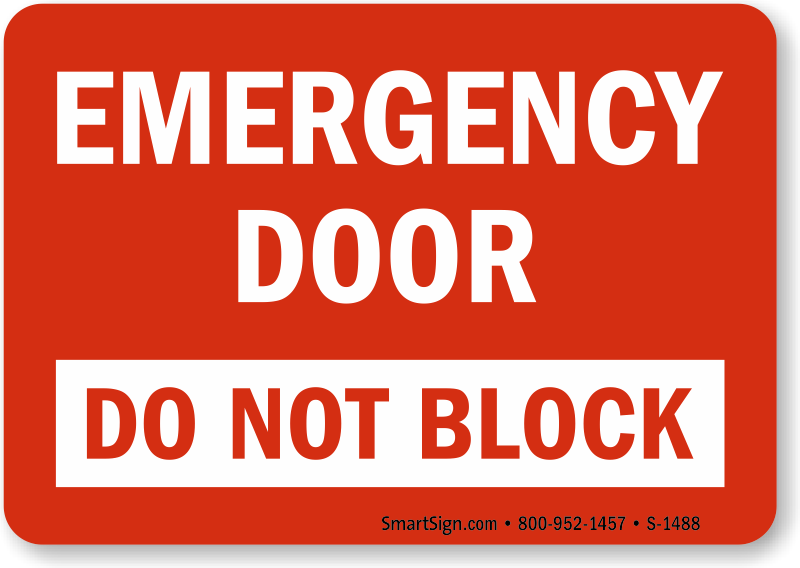 Emergency Exit Do Not Block Signs Fire And Emergency