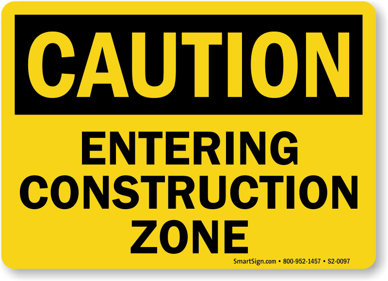 Construction zone signs