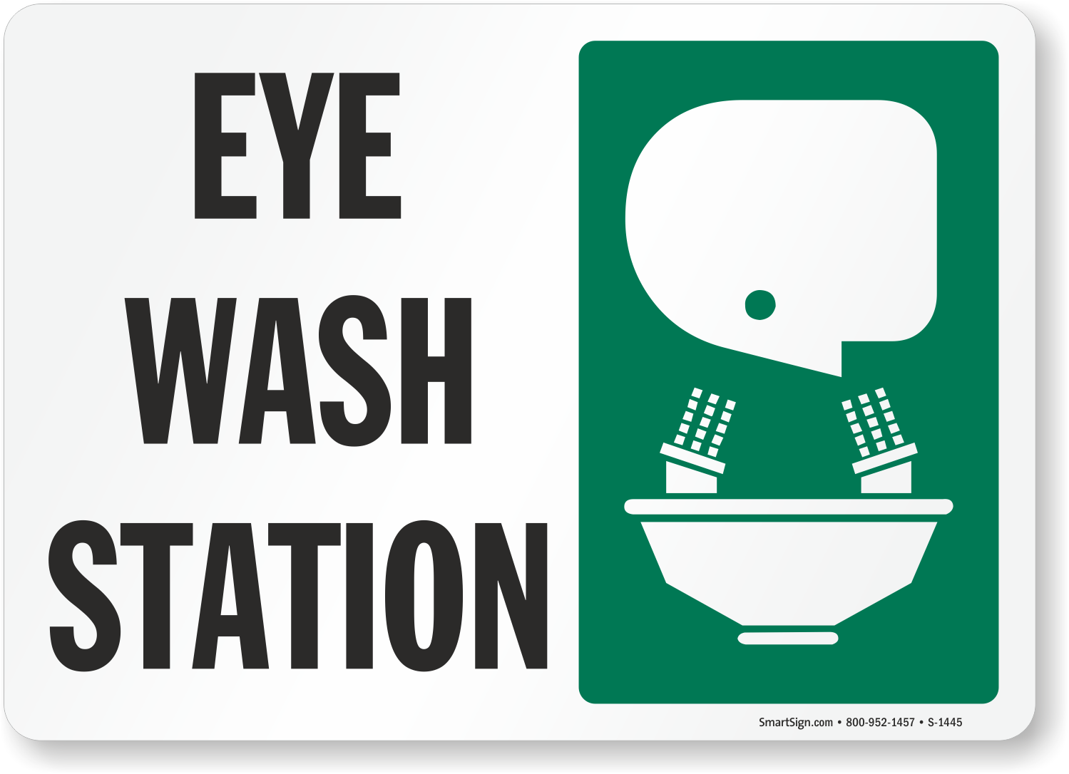 Emergency Eye Wash Signs Shower Station Labels