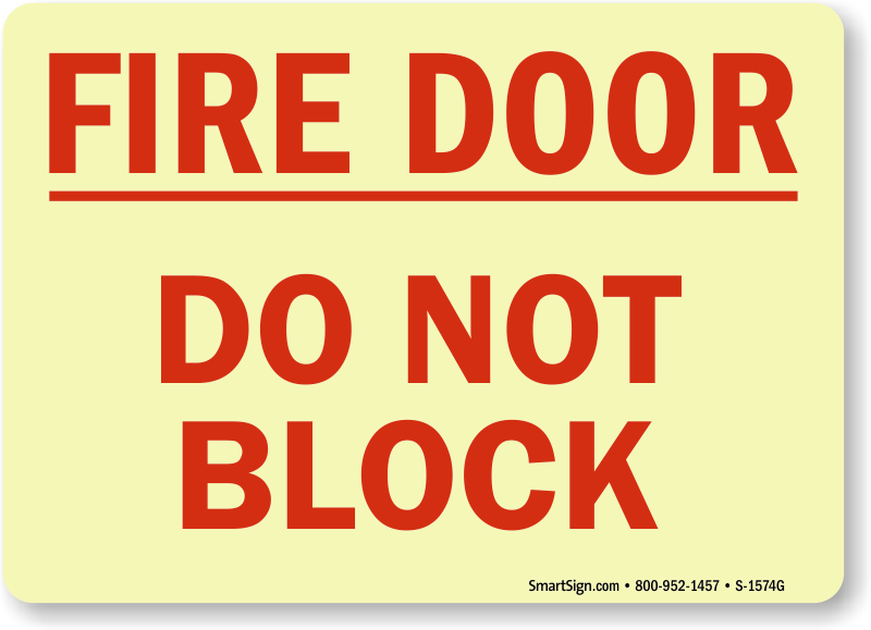 Fire Door Do Not Block Signs Fire And Emergency Signs