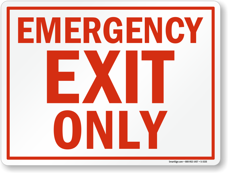Emergency Exit Only Signs Fire And Emergency Signs Sku