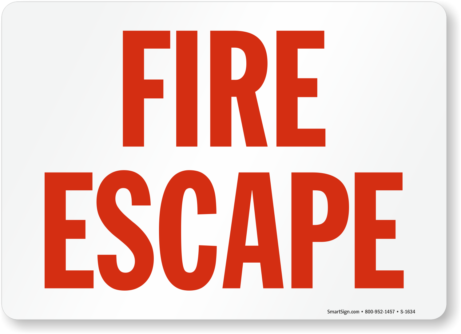 """Preperation saves lives in an emergency. Use a """"fire escape"""" sign ... Under Construction Signs"""