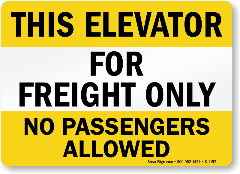 elevator machine room sign requirements