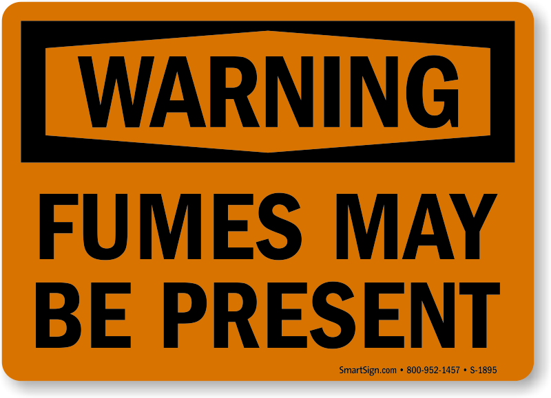 Hazardous Fumes Signs Free Shipping At 25
