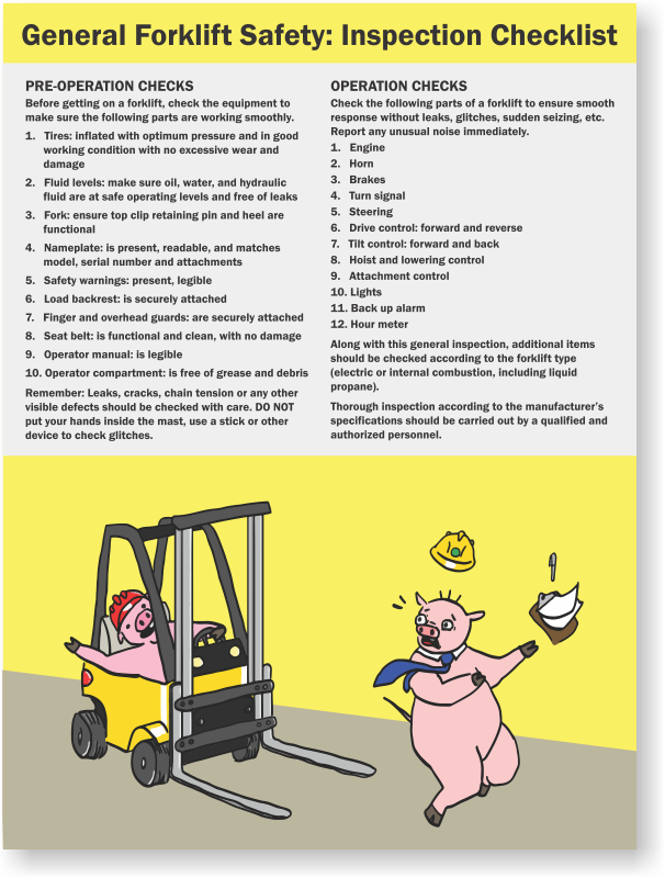 osha daily forklift inspection checklist pdf