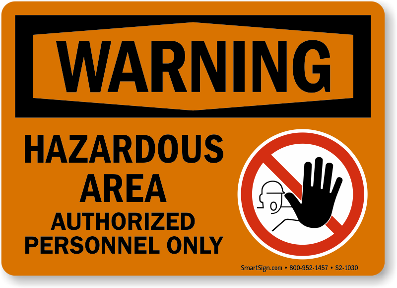 Hazardous Area Signs Best Prices From Mysafetysign