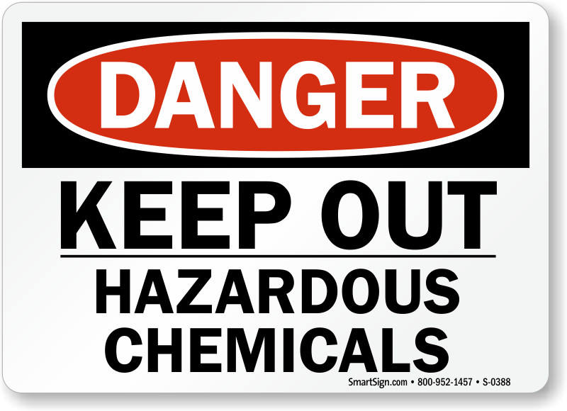 Hazardous Materials Signs Hazardous Chemical Signs