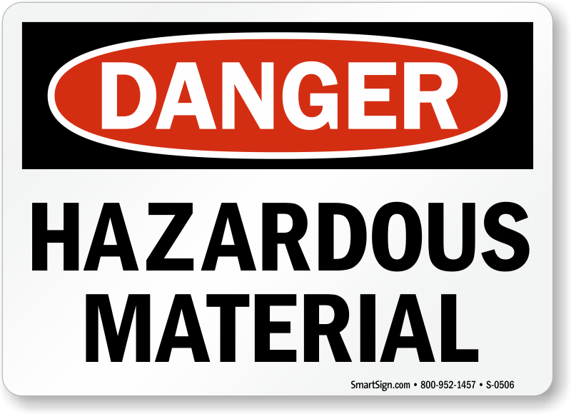 Hazardous materials signs hazardous chemical signs for Waste material images