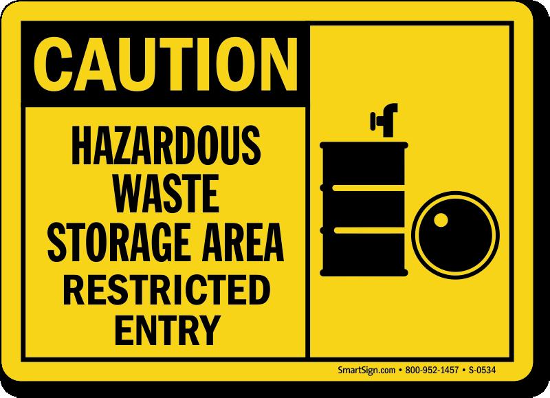 Hazardous Waste Storage Signs Mysafetysign Com