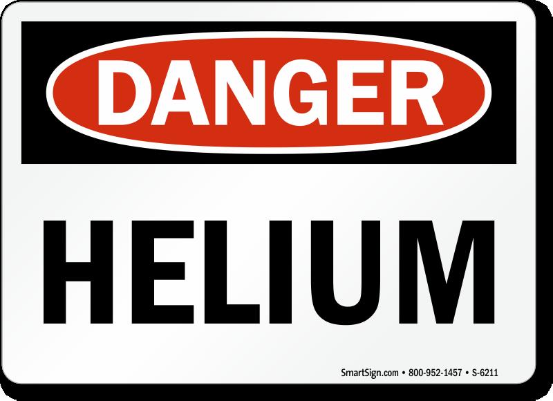 Helium Warning Signs Mysafetysign Com