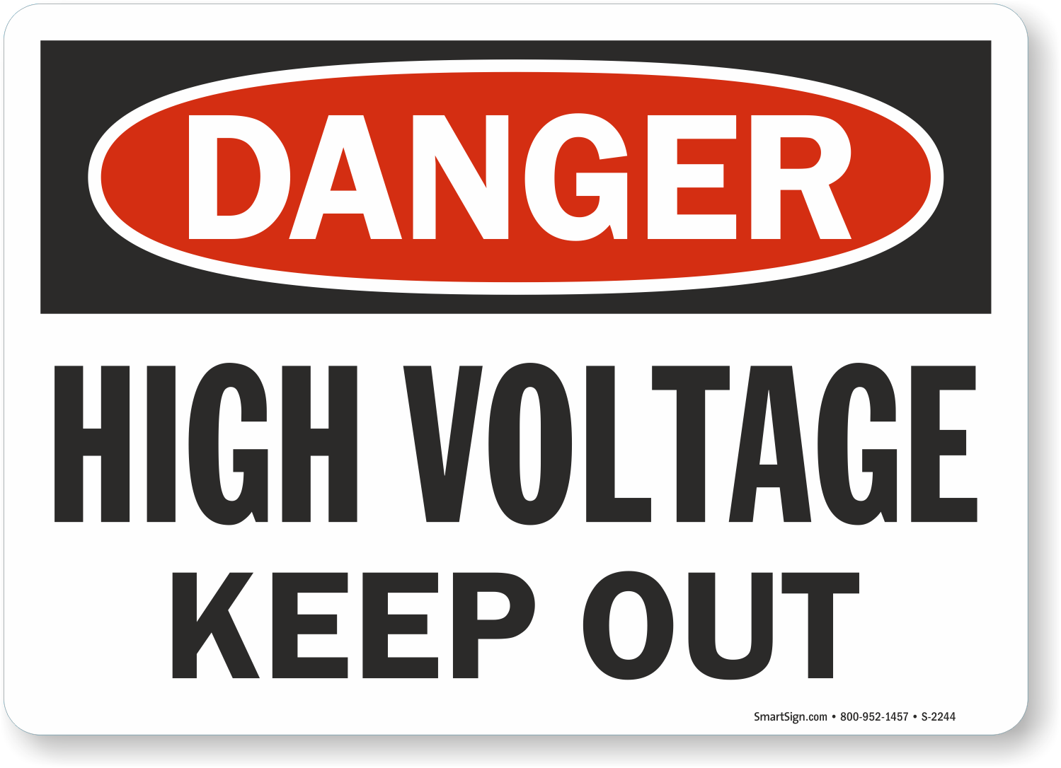 High Voltage Signs Fast Free Shipping From Mysafetysign