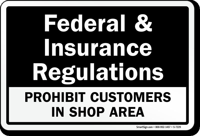 Prohibit Customers In Shop Area Sign Sku S 7229