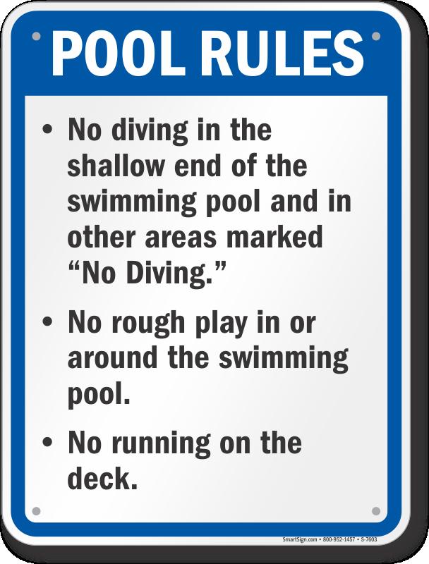 Iowa Swimming Pool Signs