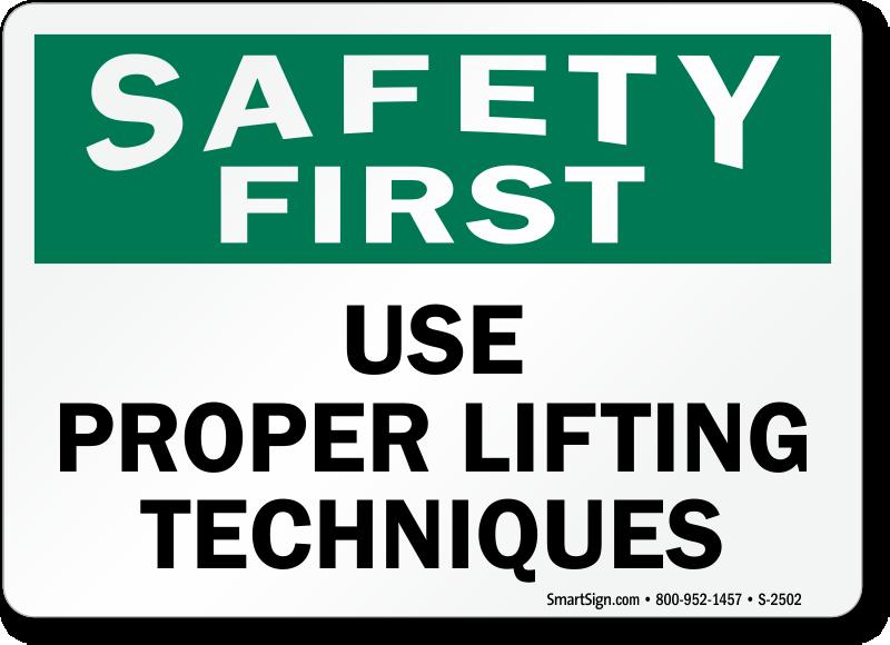 Image Gallery osha safety instruction signs