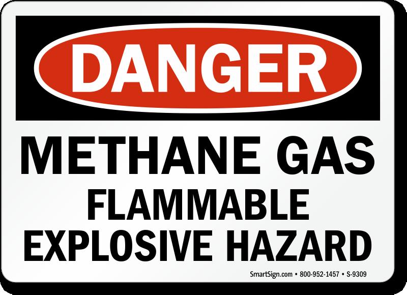 Methane Gas Hazard Signs - MySafetySign.com