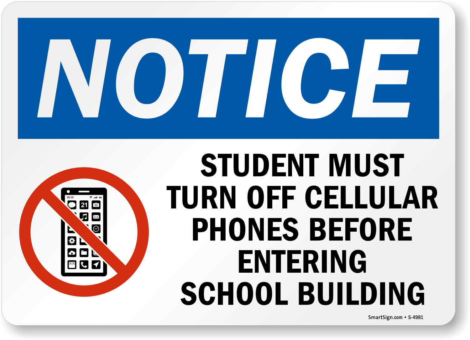 student turn off phones