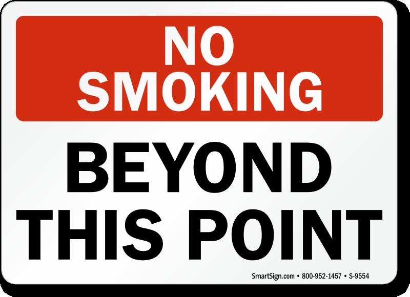 no smoking labels   no smoking beyond this point sku s