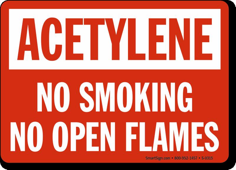 Acetylene Safety Signs Mysafetysign Com