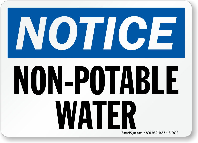 Do Not Drink Non Potable Water Signs Mysafetysign Com