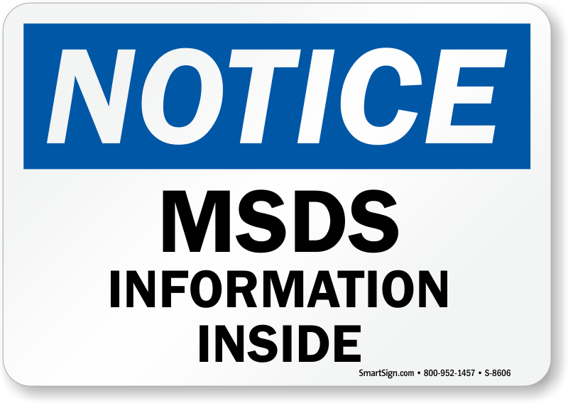 msds signs material safety data sheet signs