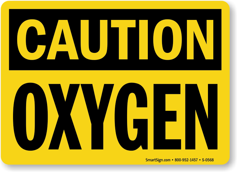Oxygen flammable signs mysafetysign com