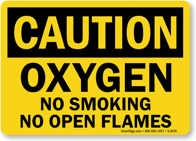 Home Oxygen In Use Signs