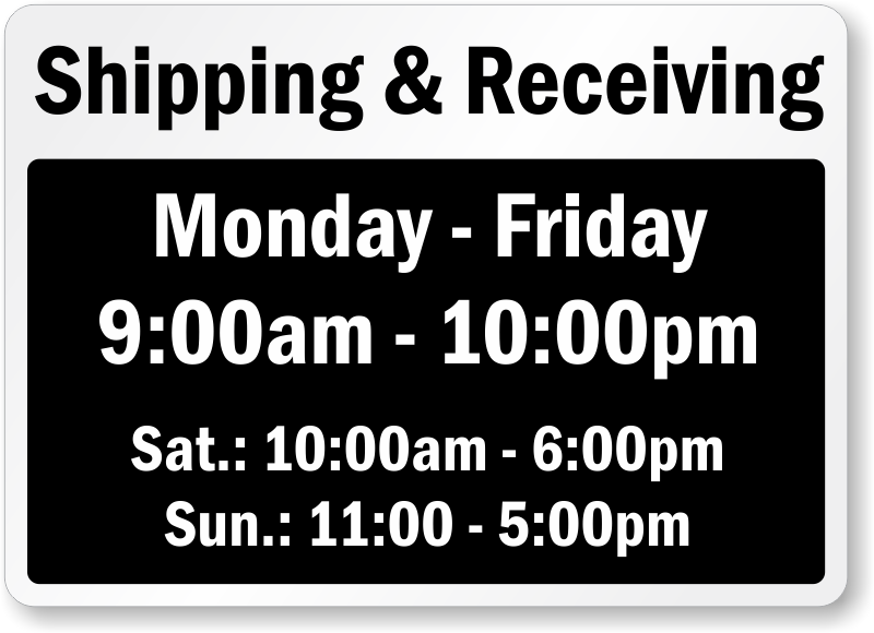 Shipping And Receiving Signs Mysafetysign Com