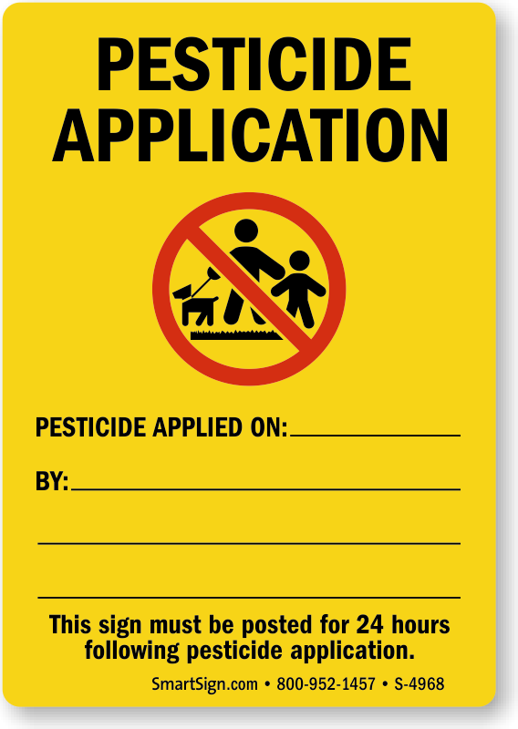 Pesticide Safety Signs Pesticide Warning Signs