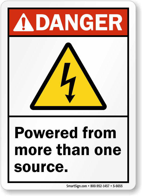 Multiple Power Source Signs Mysafetysign Com