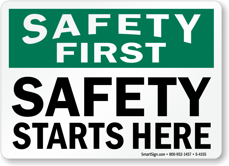 Start Here Sign Safety starts here signs, sku: s-4155 - mysafetysign ...